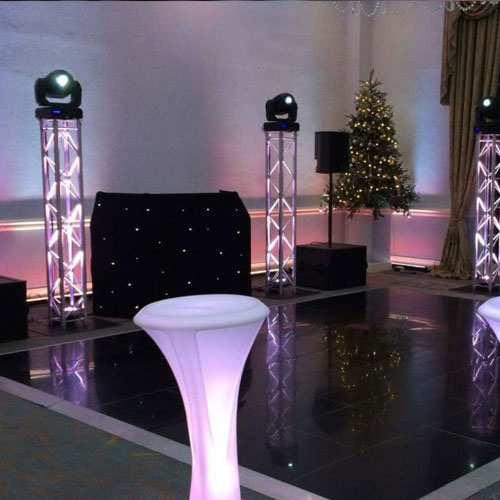 Uplighting Setup for Parties